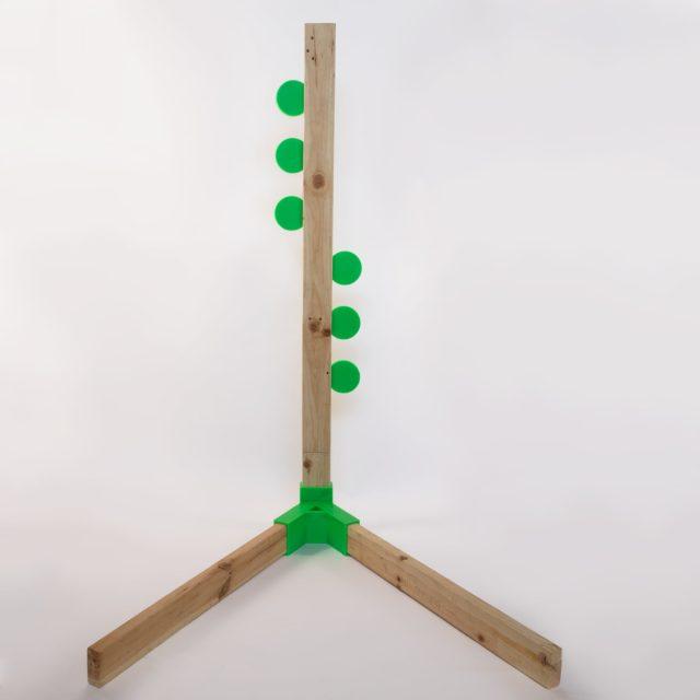 "RimFire 4"" Dueling Tree Kit (6 plates, 6 brackets, 1 alpha)"